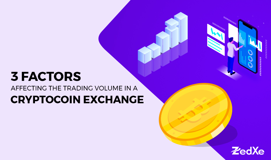 3 Factors Affecting the Trading Volume in a Cryptocoin Exchange